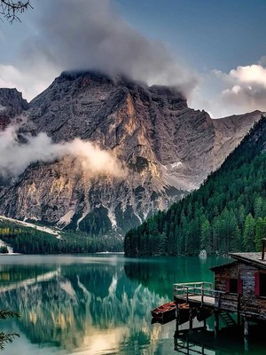 Lake Prags Italy HD Mobile Wallpaper Preview