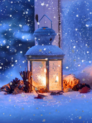 Lamp In Snow HD Mobile Wallpaper Preview