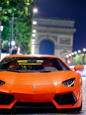 Orange Lamborghini Aventador Supercar HD Mobile Wallpaper Preview