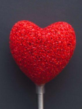 Red Heart Lollipop HD Mobile Wallpaper Preview