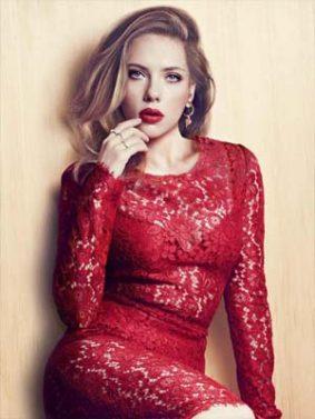 Scarlett Johansson In Beautiful Red Dress HD Mobile Wallpaper Preview