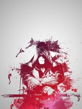 Assassin's Creed Red Artwork HD Mobile Wallpaper Preview