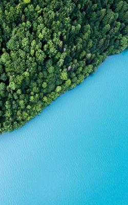 Beautiful Blue Lake HD Mobile Wallpaper Preview