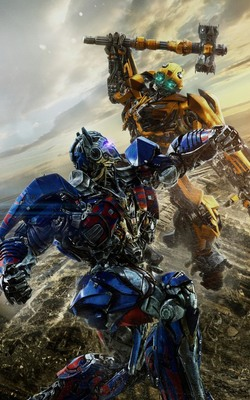 Bumblebee Vs Optimus Prime In Transformers The Last Knight HD Mobile Wallpaper Preview