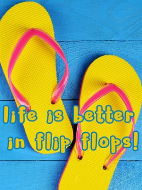 Life Is Better In Flip Flops HD Mobile Wallpaper Preview