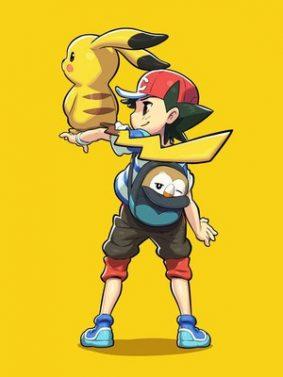 Pokemon Pikachu Rowlet And Satoshi HD Mobile Wallpaper Preview