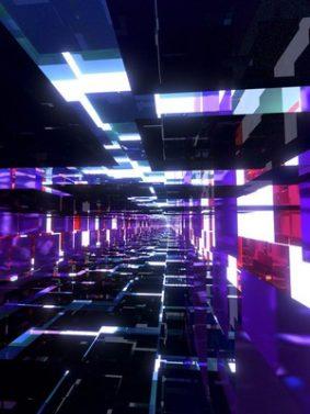 Purple Mirror Tunnel Artwork HD Mobile Wallpaper Preview