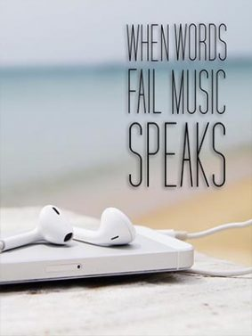When Words Fail Music Speaks HD Mobile Wallpaper Preview