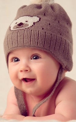 Cute Baby With Cute Hat Cap HD Mobile Wallpaper Preview