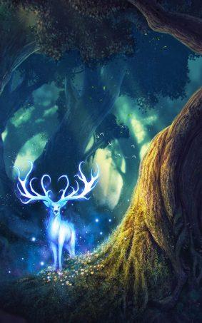 Fairy Deer HD Mobile Wallpaper