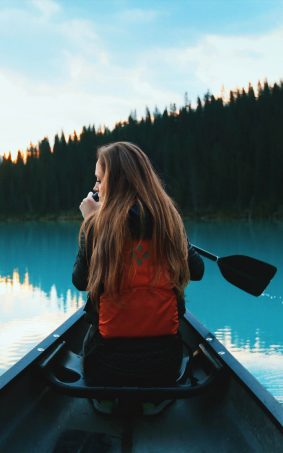 Girl Boating Alone HD Mobile Wallpaper