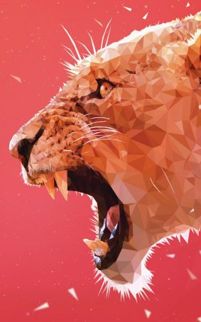 Roaring Lion Abstract Artwork HD Mobile Wallpaper