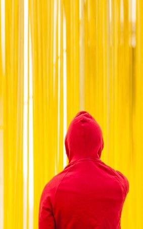 Yellow Red Hoodie HD Mobile Wallpaper
