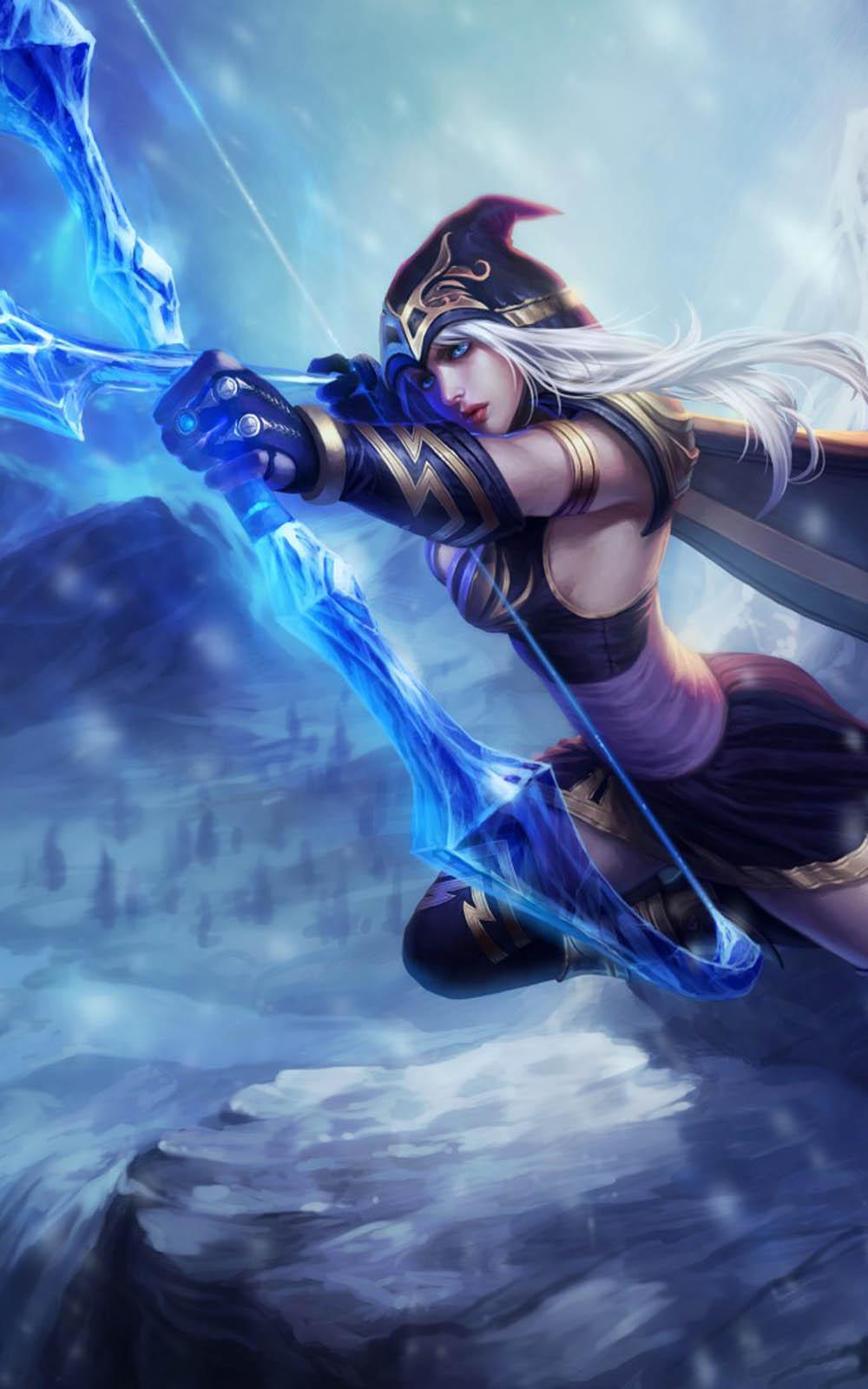 Download Ashe League Of Legends Hero Free Pure 4K Ultra HD Mobile Wallpaper