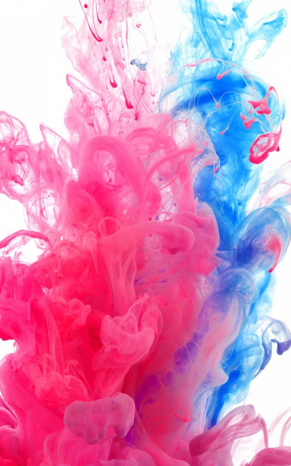 Awesome Blue Red Holi HD Mobile Wallpaper