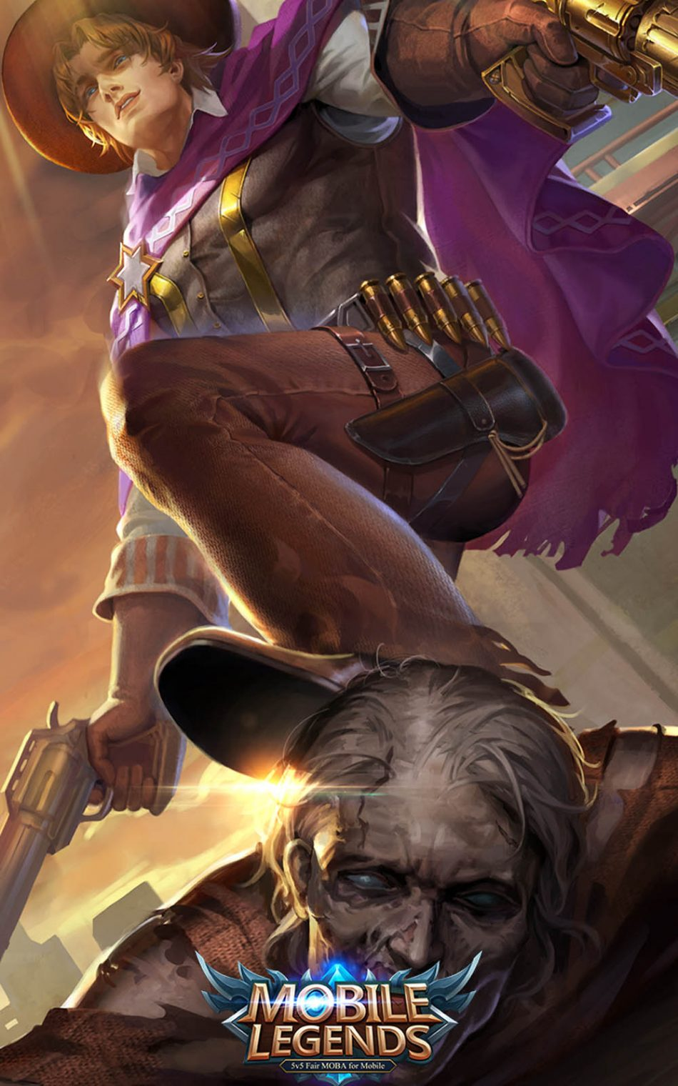 Download Clint Mobile Legends Hero Free Pure 4K Ultra HD Mobile Wallpaper