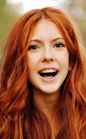 Cute Happy Redhead Girl HD Mobile Wallpaper