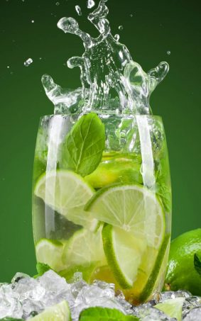 Lime Mint Water Cocktails HD Mobile Wallpaper