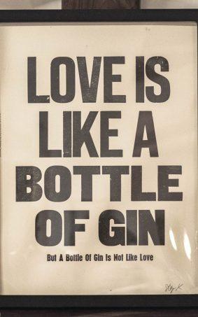 Love Is Like A Bottle Of Gin HD Mobile Wallpaper