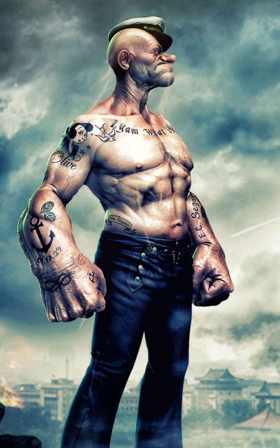 Popeye Muscular Artwork Download Free 100 Pure Hd