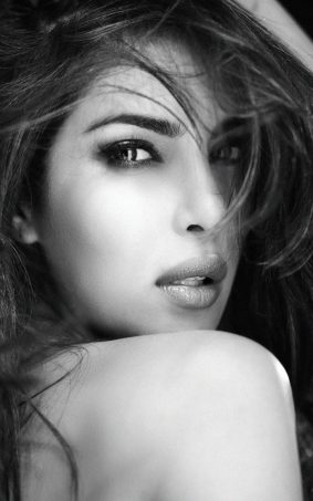 Priyanka Chopra BW 2017 Photoshoot HD Mobile Wallpaper