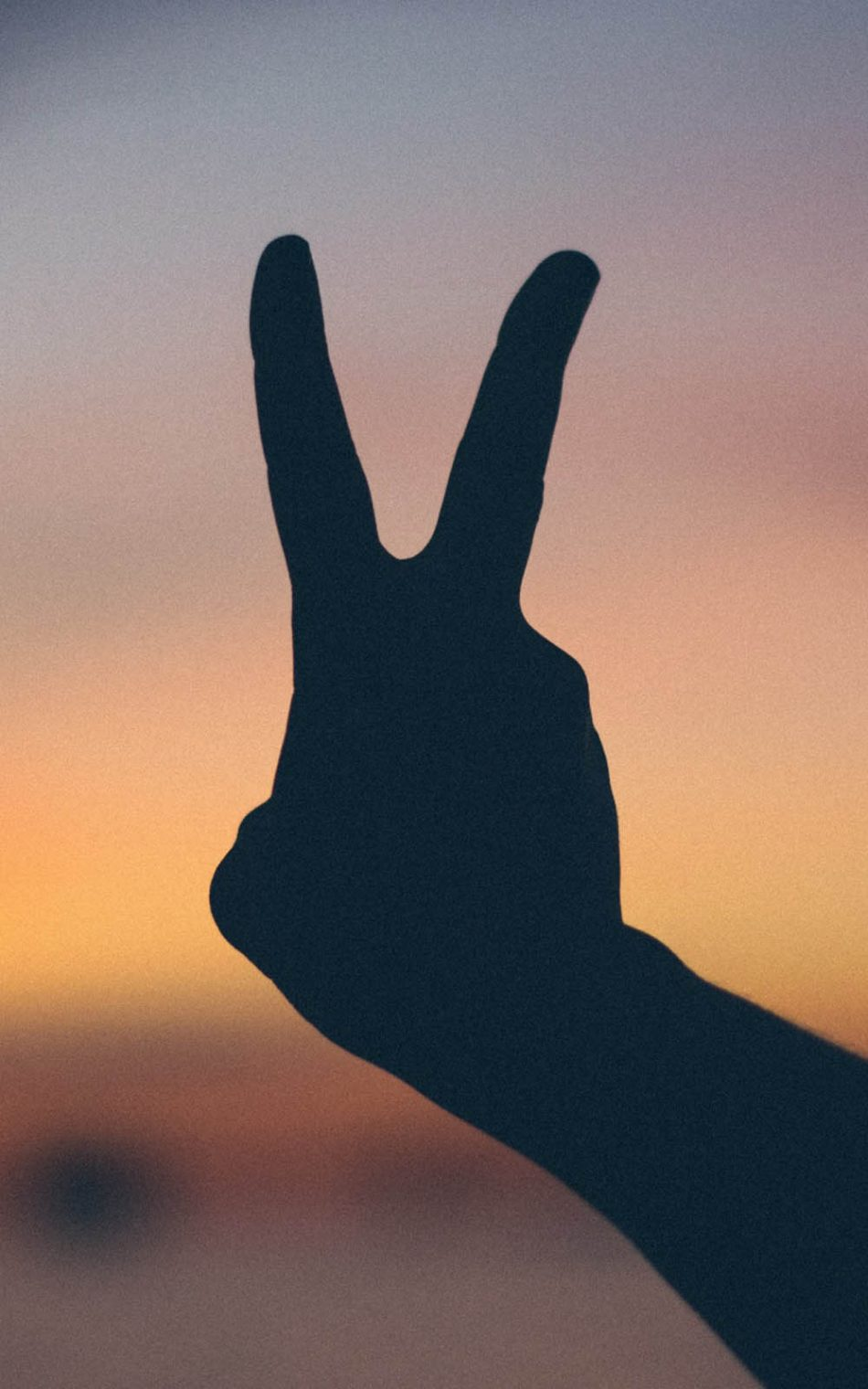 Victory Hand Gesture HD Mobile Wallpaper