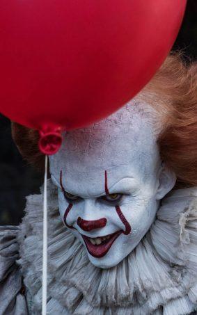 Bill Skarsgard As Scary Clown In IT 2017 HD Mobile Wallpaper