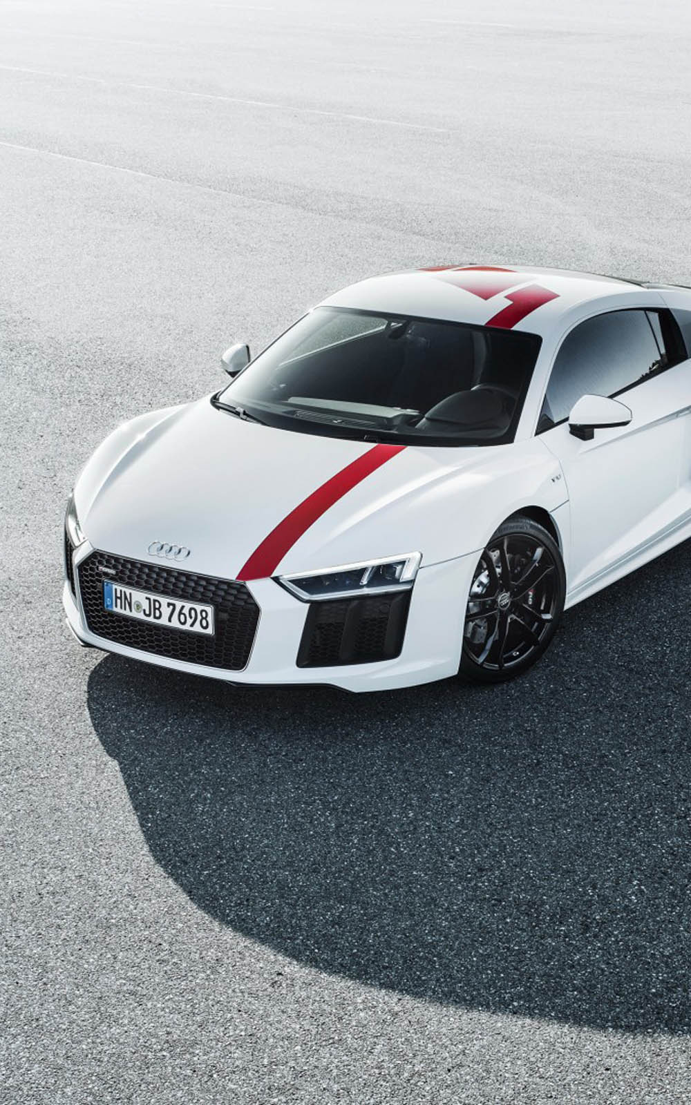 White Audi R8 V10 RWS 2018 HD Mobile Wallpaper