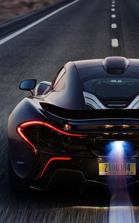 Black McLaren P1 On Race Track HD Mobile Wallpaper