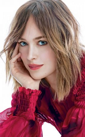 Dakota Johnson In Beautiful Red Dress HD Mobile Wallpaper