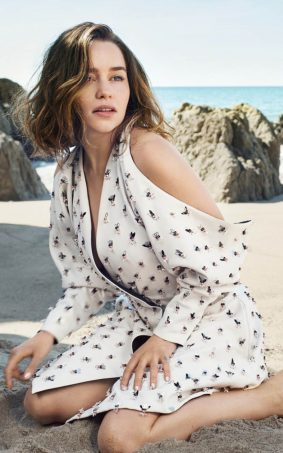 Emilia Clarke Beach Photoshoot HD Mobile Wallpaper