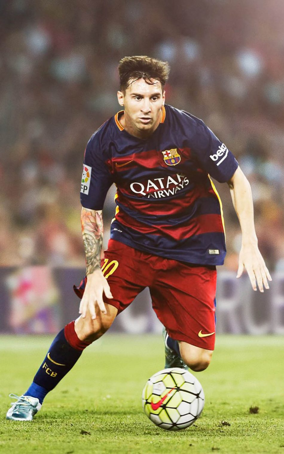 Download Lionel Messi Playing For Fc Barcelona Free Pure 4k Ultra Hd
