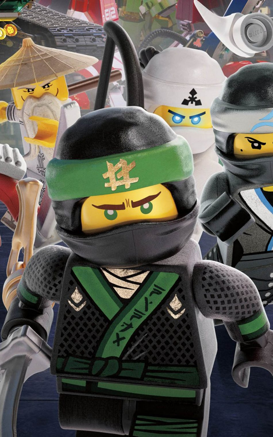 Ninja Warriors In The Lego Ninjago HD Mobile Wallpaper