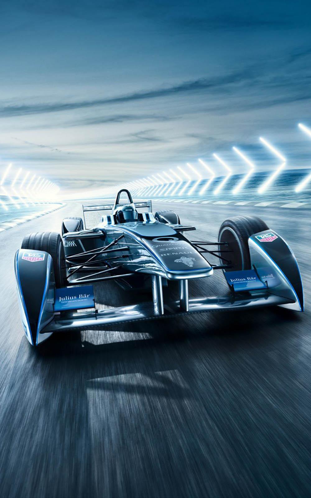 Renault Formula E Racing Car Free 4K Ultra HD Mobile Wallpaper