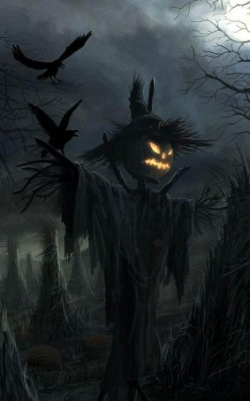 Scary Halloween Scarecrow HD Mobile Wallpaper