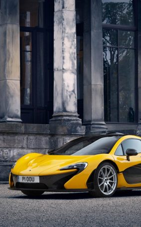 Yellow McLaren P1 HD Mobile Wallpaper