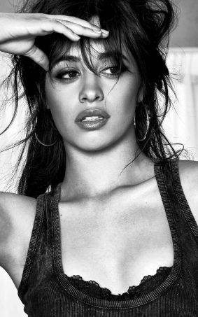 Camila Cabello BW Hot Photoshoot HD Mobile Wallpaper