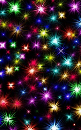 Colorful Shining Fireworks HD Mobile Wallpaper
