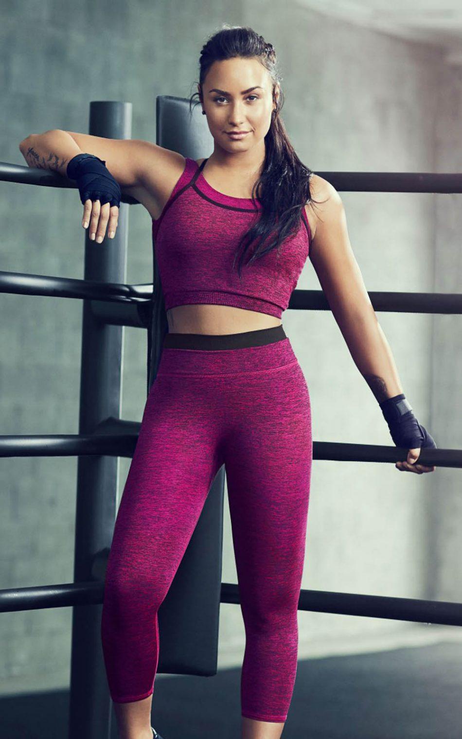 Demi Lovato Fabletics Workout HD Mobile Wallpaper