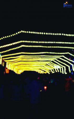 Puja Light Decorations HD Mobile Wallpaper