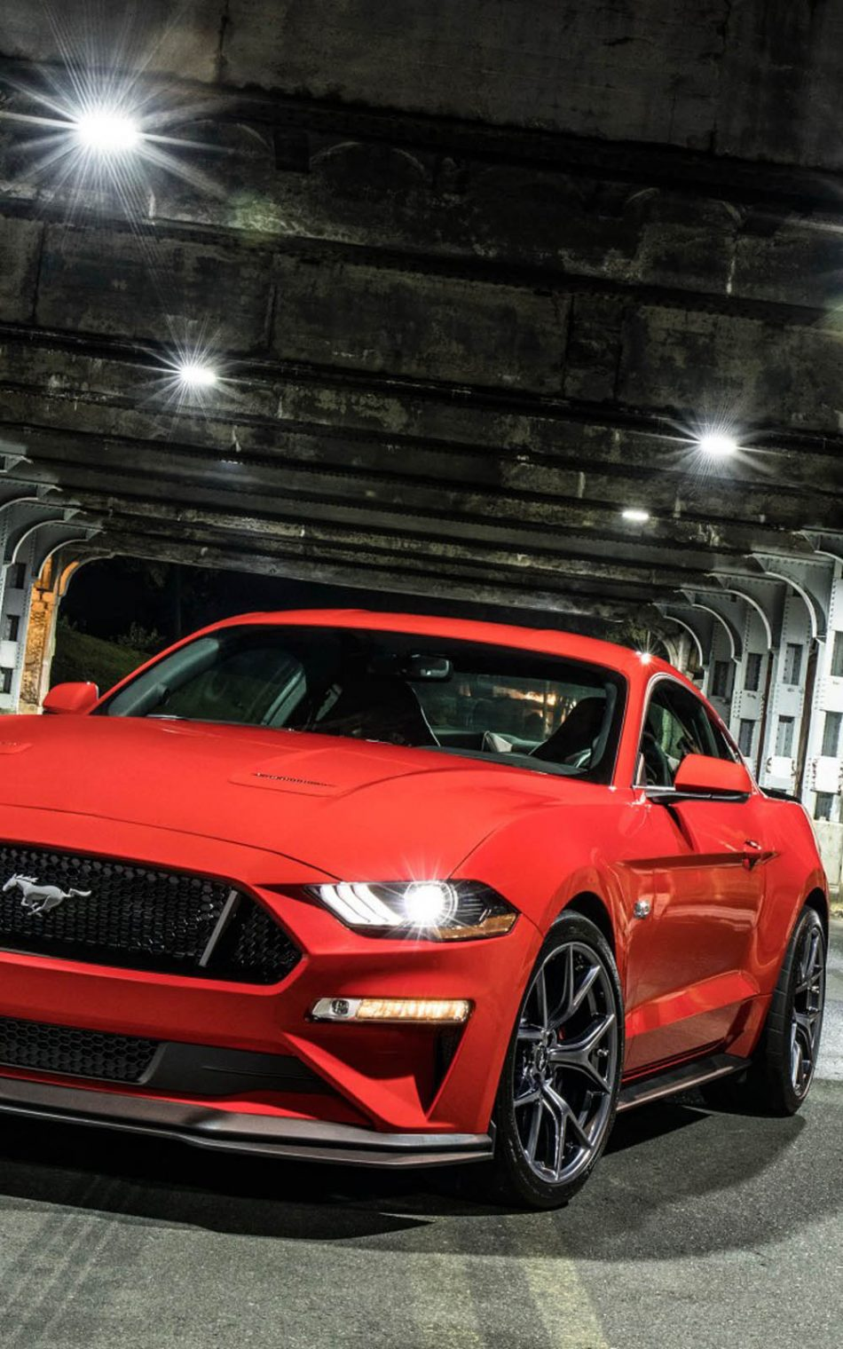 Red Ford Mustang GT Performance Pack Level 2 HD Mobile Wallpaper