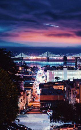 San Francisco USA Night Click HD Mobile Wallpaper