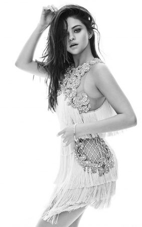 Selena Gomez Hot Black and White Photoshoot HD Mobile Wallpaper
