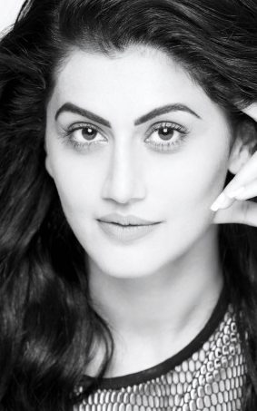 Taapsee Pannu BW Cute Photoshoot HD Mobile Wallpaper