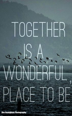Together Is A Wonderful Place To Be HD Mobile Wallpaper