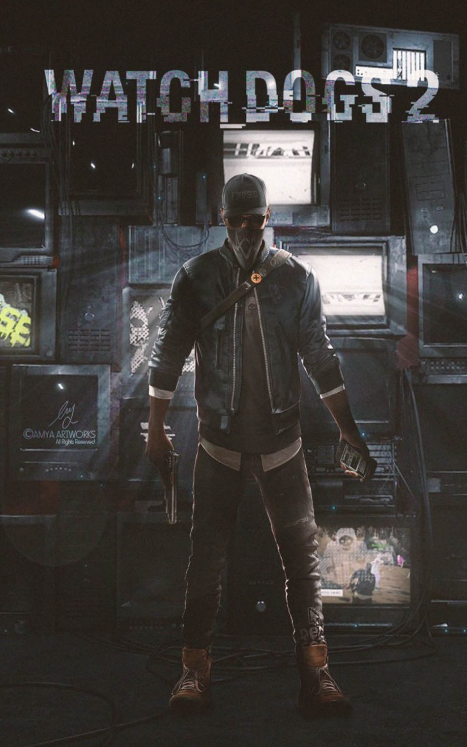 Watch Dogs 2 Game HD Mobile Wallpaper