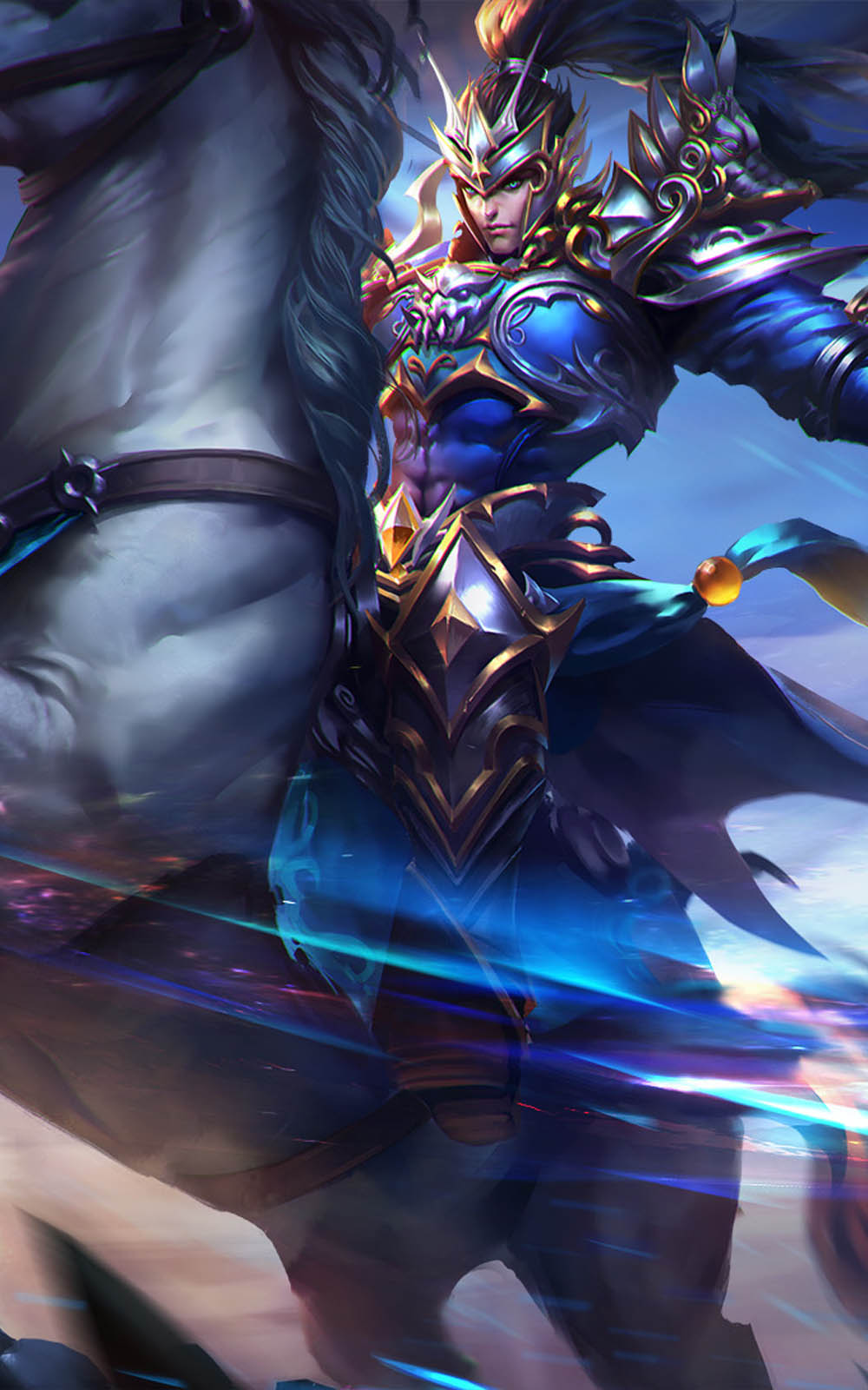 Download Zhao Yun Mobile Legends Artwork Free Pure 4K Ultra HD Mobile Wallpaper