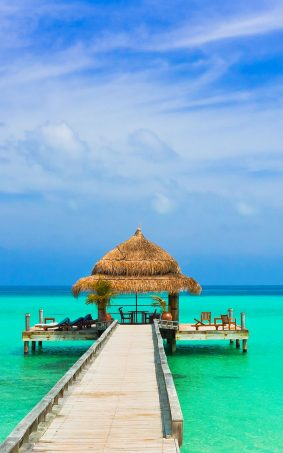 Amazing Blue Sky Sea Beach HD Mobile Wallpaper