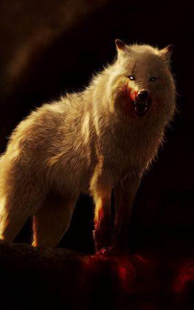 Arctic Wolf Artwork HD Mobile Wallpaper