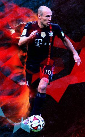 Arjen Robben HD Mobile Wallpaper